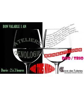 ATELIERS ŒNOLOGIQUES SENSATION Duo/Trio