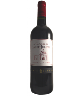 SAINT JULIEN. AOP ROUGE CLOCHER DE ST JULIEN 75CL 13% VOL.
