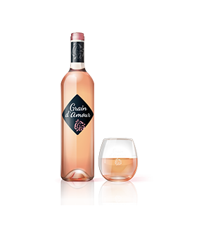 GRAIN D'AMOUR ROSE 75 CL