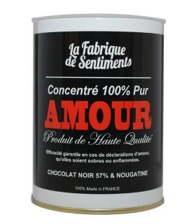 BOITE CHOCOLATS AMOUR NOIR 200GR