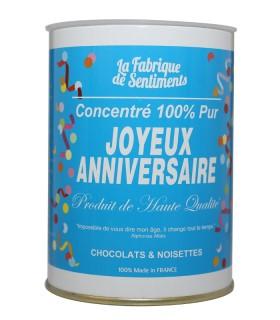 BOITE CHOCOLATS JOYEUX ANNIVERSAIRE 200GR